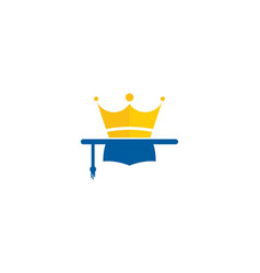 king education logo icon design vector image