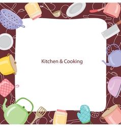 Kitchen Equipment Border vector image
