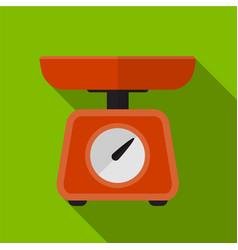 Kitchen weigher flat icon vector