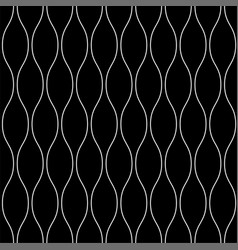 line art wavy seamless pattern vector image