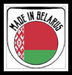 Made in Belarus sign vector