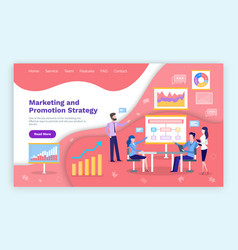 marketing and promotion strategy people on meeting vector image