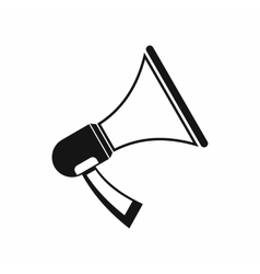 Megaphone icon in simple style vector