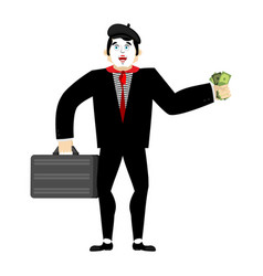 mime businessman pantomime boss mimic buyer and vector image
