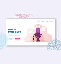 Money talks and financial radio or tv program vector