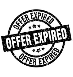 offer expired round grunge black stamp vector image