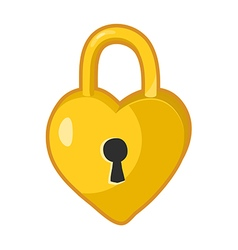 Padlock heart shaped lock vector