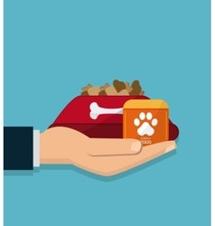 Pet shop and food design vector image