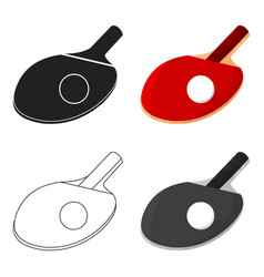ping-pong icon cartoon single sport icon from the vector image