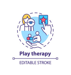 Play therapy concept icon vector