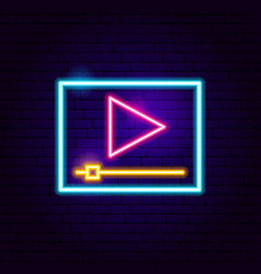 player neon sign vector image