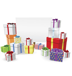 Presents and sign concept vector