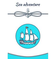 sea adventure banner color vector image