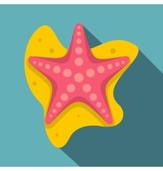 Sea star icon flat style vector