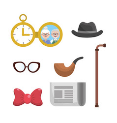 Set grandparent things to used all time vector