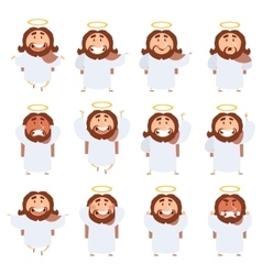 Set of Jesus icons vector
