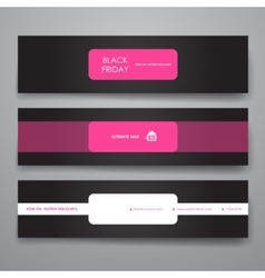 Set of modern design banner template in sale style vector image