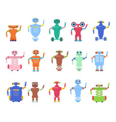 set of robots toys vector image
