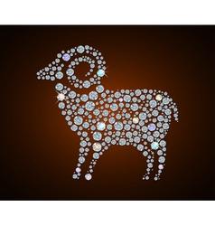 sheep 2015 vector image