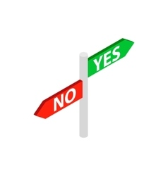 Sign yes no icon isometric 3d style vector