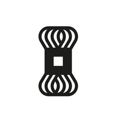 Skein fleece yarn icon on white background vector