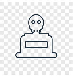 skeleton concept linear icon isolated on vector image