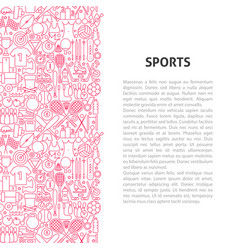 sports line pattern concept vector image