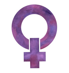 Symbol of feminism women and the struggle for vector