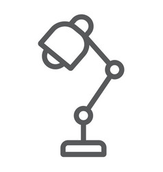 table lamp line icon office and work vector image