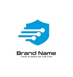 Technology security design logo vector