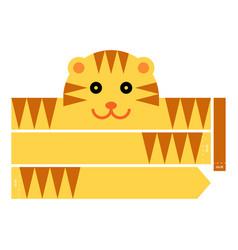 Tiger headband vector