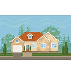 Traditional suburban house vector image