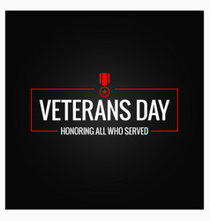 Veterans day logo design background vector