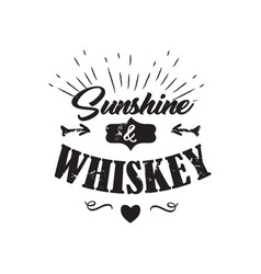 whiskey badge vector image
