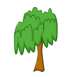 Willow tree icon cartoon style vector