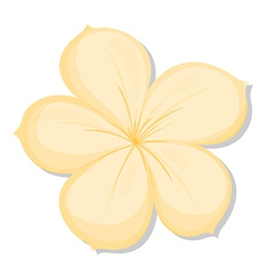A five-petal yellow flower vector image