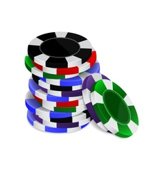 Casino chips stack vector image vector image