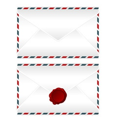 Envelopes over white vector image vector image