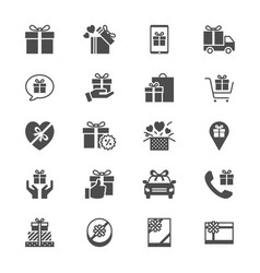 gift flat icons vector image vector image