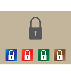 Lock icons vector image
