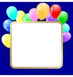 party background with baloons vector image vector image
