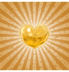 Shining lava heart vector image