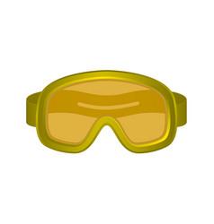 Ski sport goggles in orange design vector