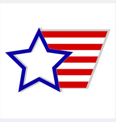 usa flag logo symbol vector image