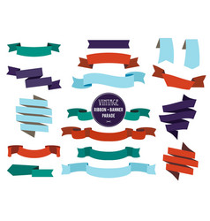 banners ribbons and badges set collection vector image vector image