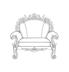 Baroque furniture rich armchair handmade vector