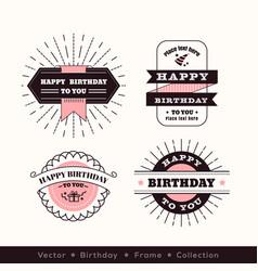 birthday logo frame design element vector image vector image