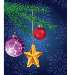 Christmas holiday decoration vector image