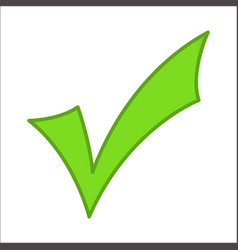 green checkmark classic vector image vector image