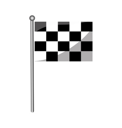 isolated race flag vector image